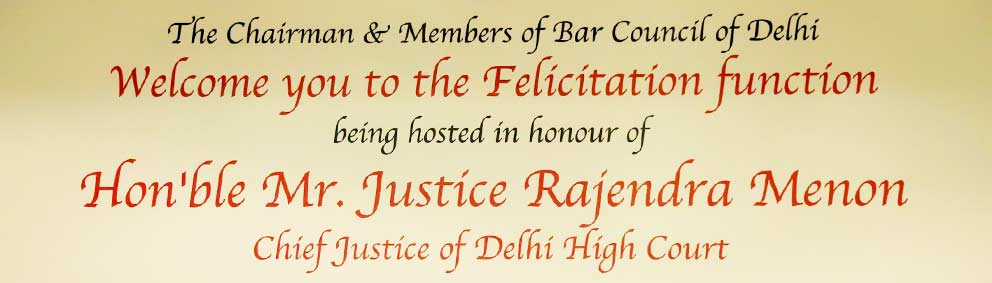 Felicitation Function of Chief Justice of Delhi High Court